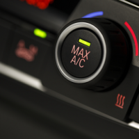Car's air conditioner controls